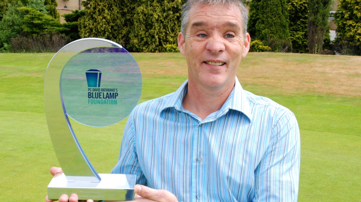 PC David Rathband with Bluelamp Trophy