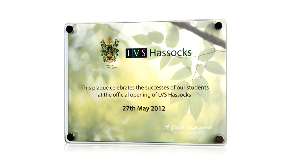 LVS Hassocks Printed Wall Plaque