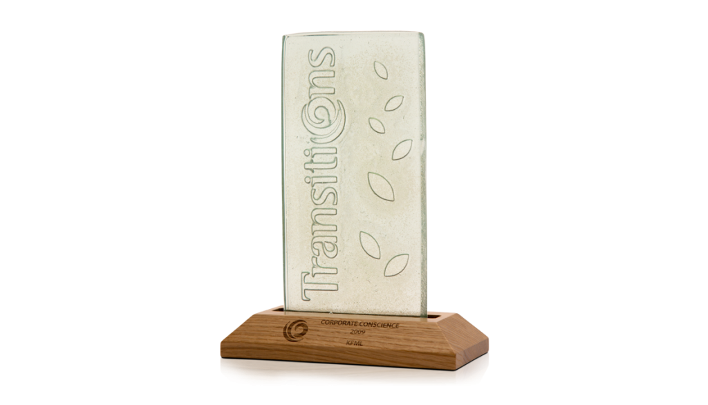 Trasitions Recycled Glass Award