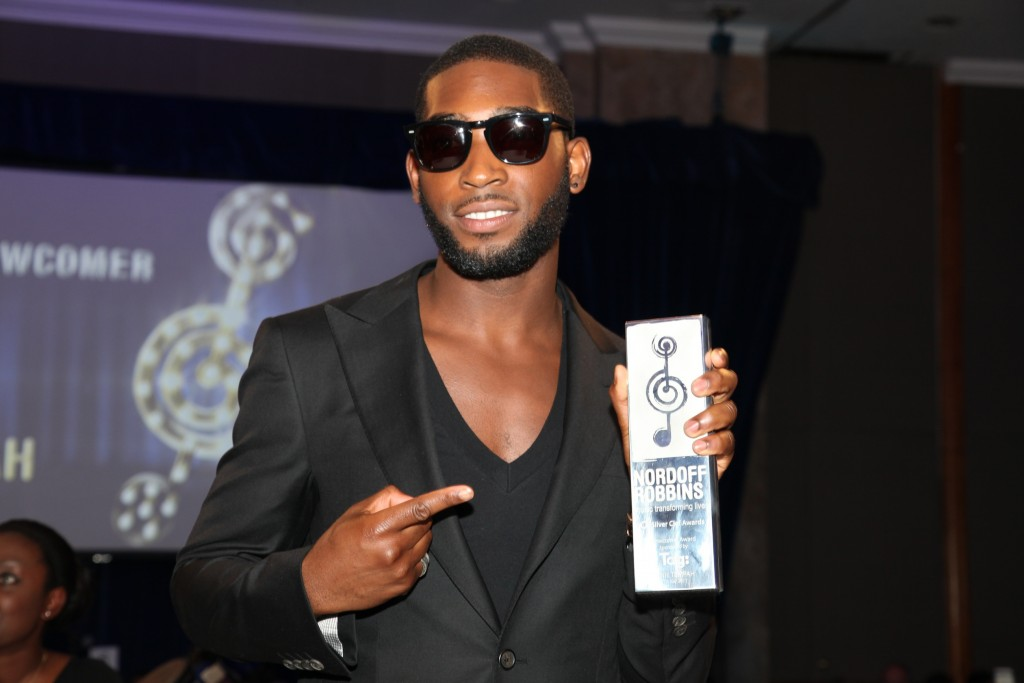 Tinnie Tempah with Silver Clef Award 2011
