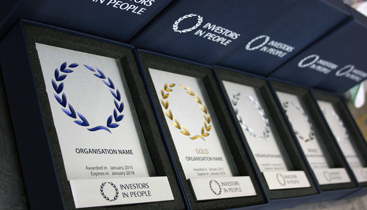 Investors in People Awards in boxes