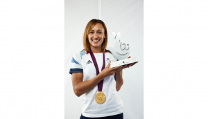 Jessica Ennis with National Lottery Awards