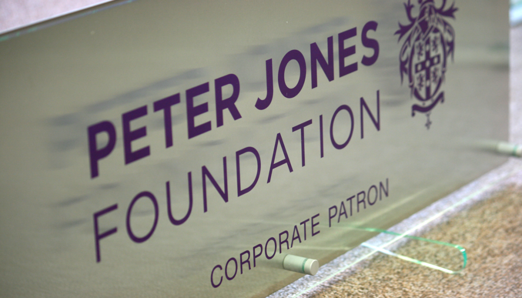 Peter Jones Foundation2 closeup