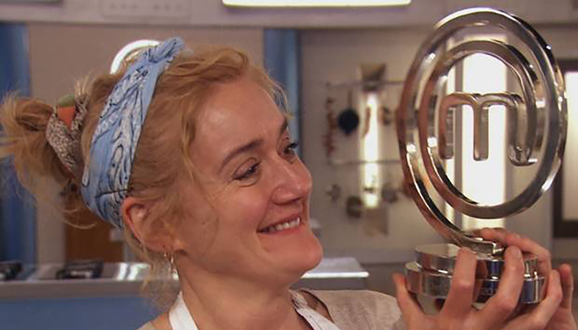 Celebrity masterchef winner 2014 closeup