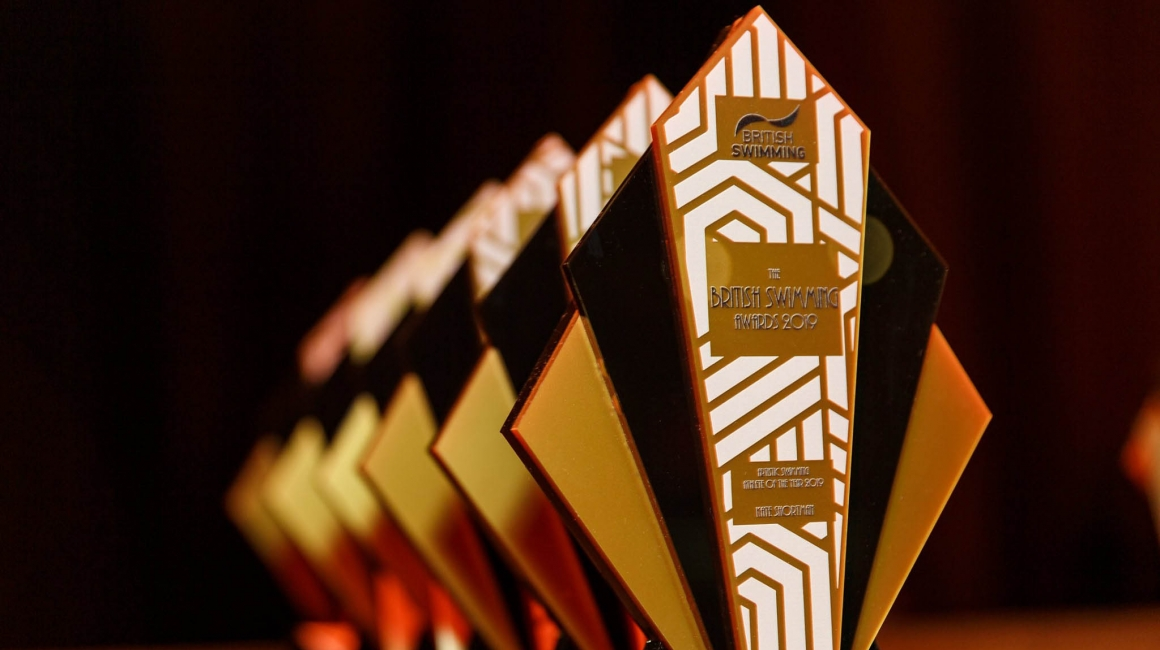Custom art deco trophies for the british swimming awards