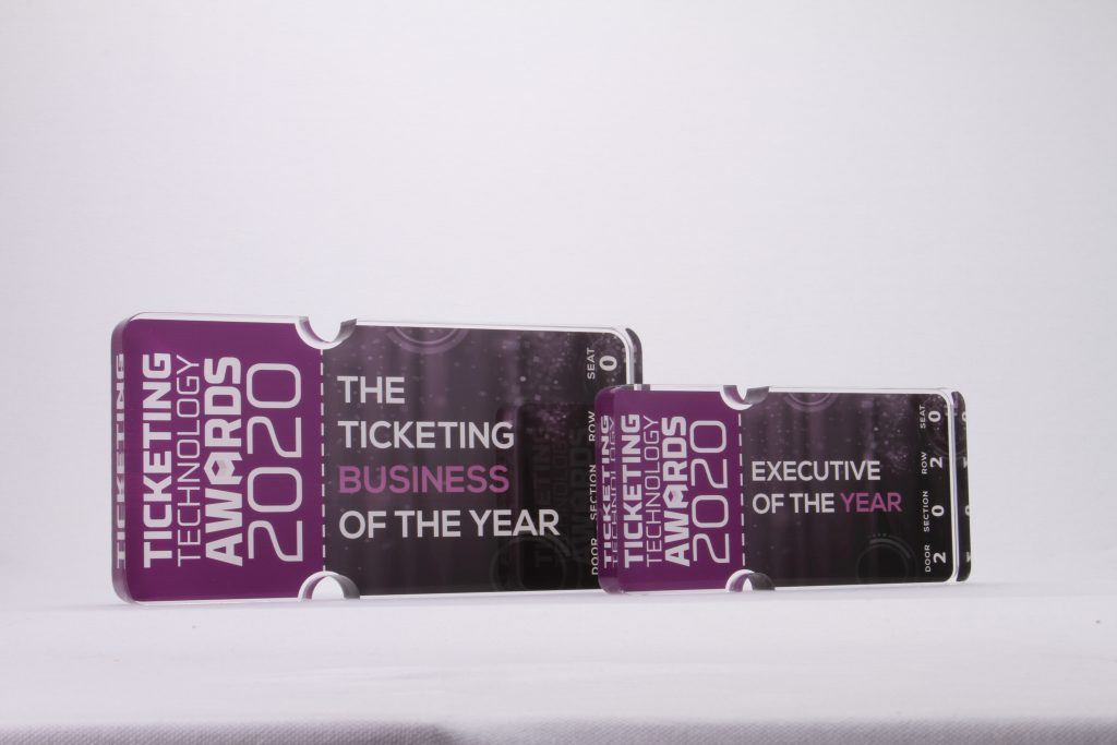 photograph of the custom ticketing business awards